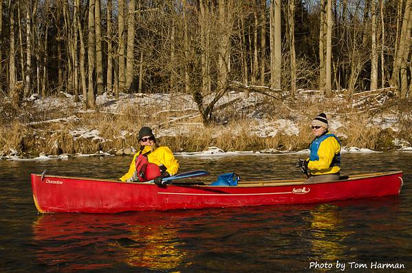 New Years Day Paddle - Judi & Warren  Photo by Tom Harman