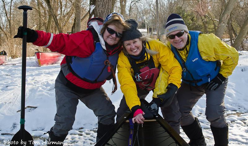 New Years Day Paddle - Patti, Judi, Warren Photo by Tom Harman