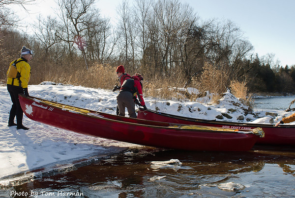 New Years Day Paddle - Take Out Photo by Tom Harman