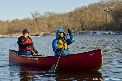 New Years Day Paddle - Barb & Paul Photo by Tom Harman