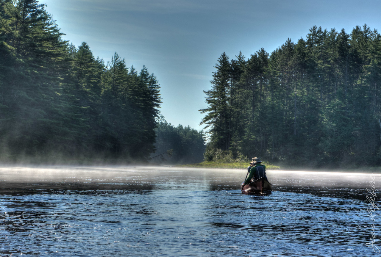 Misty morning on the Petawawa River in Algonquin Park, Ontario, Canada