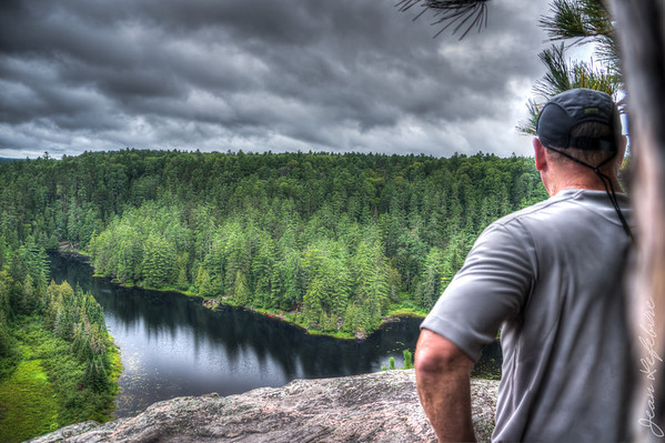 "View from the top of the ""Natch"". Petawawa River in Algonquin Park."