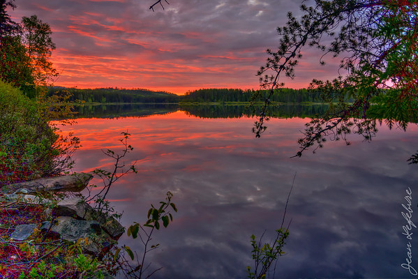 Temagami Sunset - Alexander Lake
