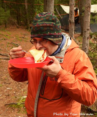 Jean eating pizza UMMMM!