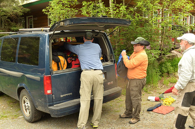 Loading up for the Shuttle with Smoothwater Outfitters Photo by Tom Harman