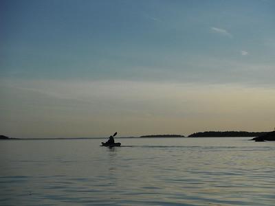 Emily enjoying  a sunset paddle  at Killbear.
