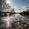 Flooded road Barnby Dun to Arksey