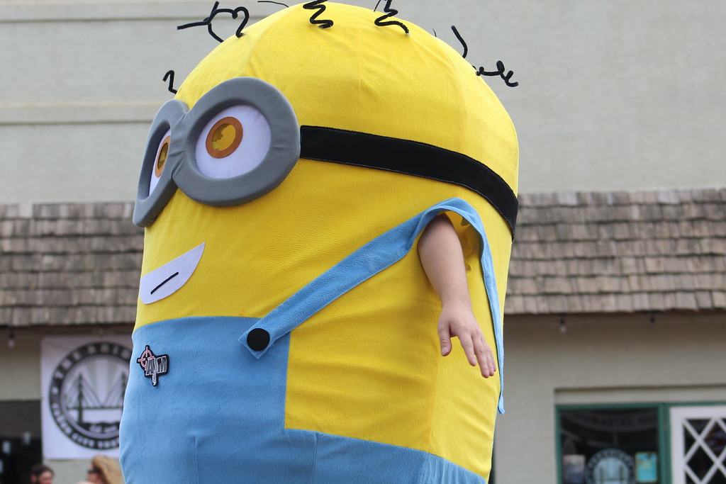 . A minion makes his way along the 2017 Blossom Festival Parade Saturday.