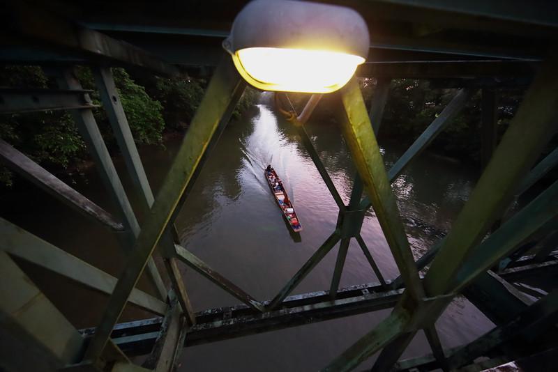 "sunset on the Melinau river in Mulu, Sarawak.<br><span style=""font-size:75%"">©Yangchen Lin</span>"