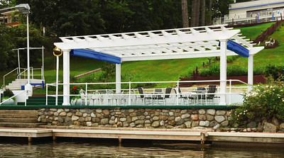 873 - NJ - Dock Area Pergola with Retracted Canopies