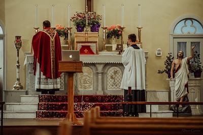 Stpatricks LatinMass Fr  McQuaide covid19 0299