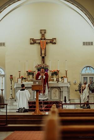 Stpatricks LatinMass Fr  McQuaide covid19 0294