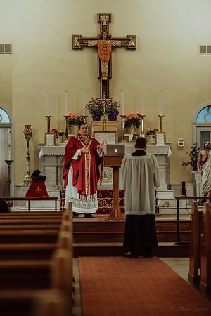Stpatricks LatinMass Fr  McQuaide covid19 0261