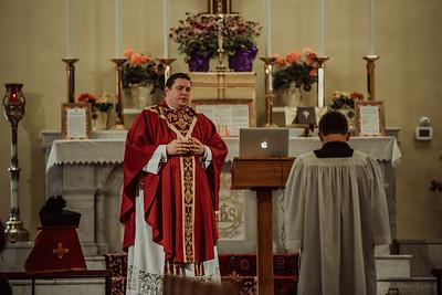 Stpatricks LatinMass Fr  McQuaide covid19 0252