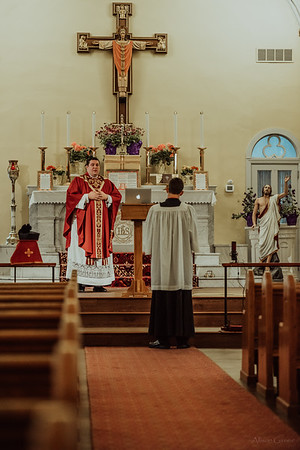 Stpatricks LatinMass Fr  McQuaide covid19 0257