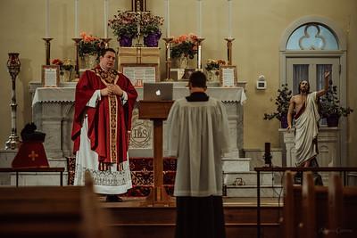 Stpatricks LatinMass Fr  McQuaide covid19 0253