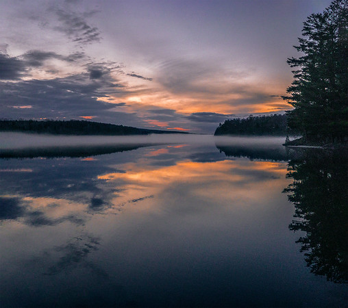 Gatineau River Fog Social Media