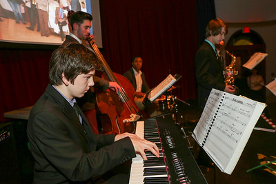 The Canton High Jazz Jazz Combo entertained at the Canton Chamber's second annual Stars of the Town Awards Ceremony.  Photo by John Fitts