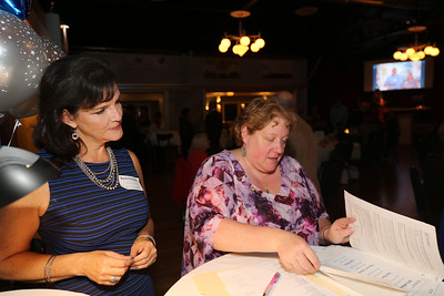 Rachel Bauger of Utility Analysts, LLC and Sue Budde, office manager for the Chamber of Commerce.  Photo by John Fitts