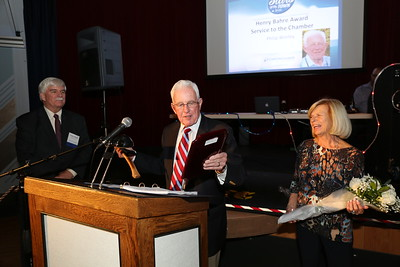 Phil Worley was honored for his 13 years as the Canton Chamber of Commerce Executive Director and was given the Henry Bahre Service to the Chamber honor.  Photo by John Fitts