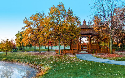 Heritage Park Canton Michigan Gazebo Fall Colors