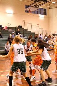 Jr. High girls vs. Mineola, Dec. 1, 2008