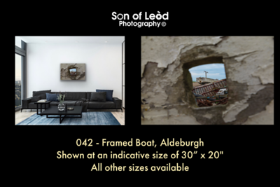042 Framed Boat Aldeburgh
