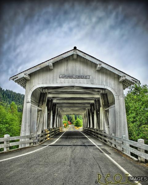 Grave Creek Covered Bridge - Southern Oregon<br /> Grave Creek final master 4