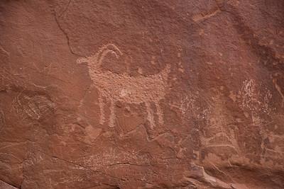 A nice petroglyph, with a lot of foul graffiti.