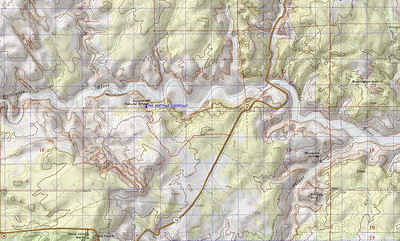 This is the GPS route we took on our return from the overview of the Bridge.