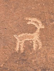 Probably a desert big horn sheep representation