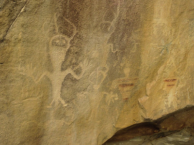 It appears that some of the petroglyphs were originally painted as well.