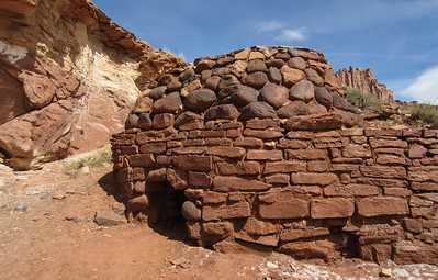 A lime kiln, established by Mormon settlers over 100 years ago.