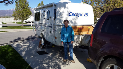 After finding a self-serve car wash in northern Utah, we were able to get some of the grime off the trailer before getting to the Pony Express RV Park outside of Salt Lake city.
