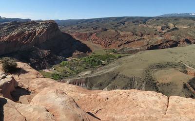 A little over 2 miles into the hike, you can go out to a viewpoint of the campground where we are staying.  But if you look in the upper right of the photo, you can see lots of canyons just waiting to be explored.