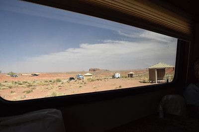 "Back in camp, the winds were getting outta control.  From inside our little trailer, we could see how ""hazy"" the view was.  But it was not haze, but rather sand being blown around.  Ultimately, it would be a very rough night."