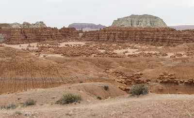 An overview of part of Goblin Valley, with all the little goblins in it.
