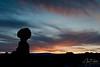 The Balanced Rock at Sunset