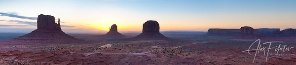Monument Valley at Dawn Panorama
