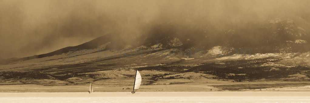Iceboat Sailing | Canyon Ferry, MT