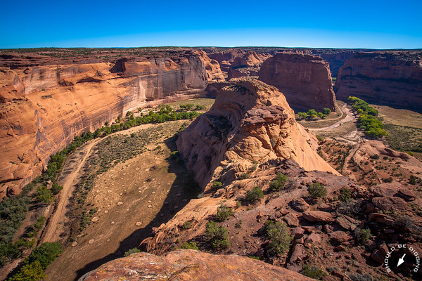 Wide angle view of Canyon de Chelly from the White House Overlook