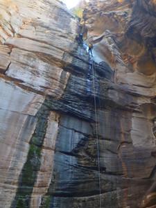 Sundance Canyon - 180-foot free rappel