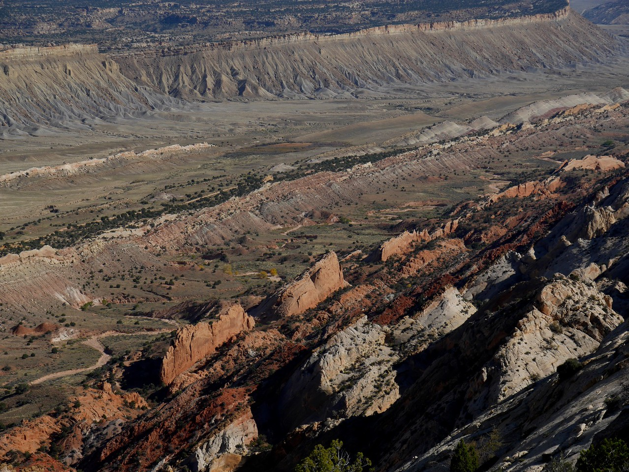 Upper Muley Twist hike - View from the ridge.