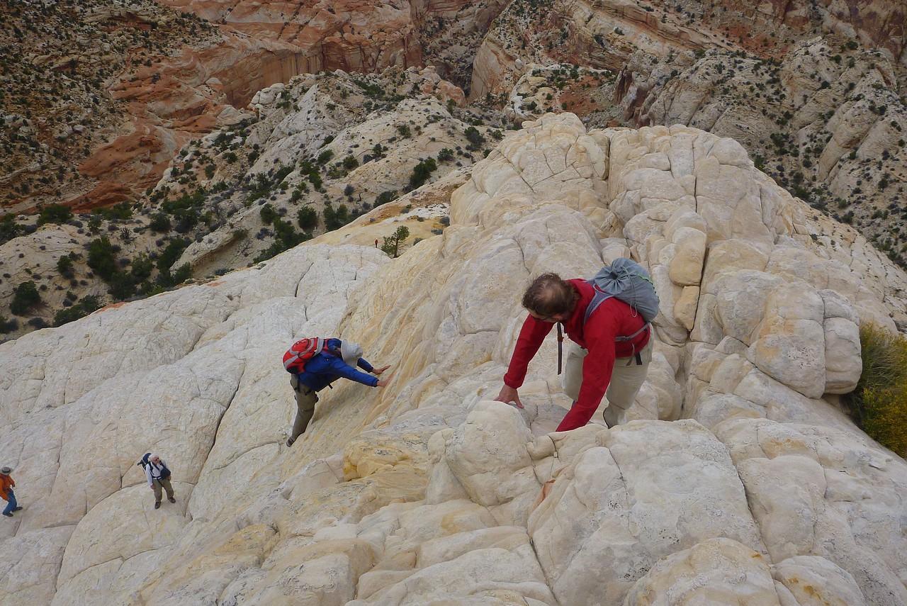 Fern Nipple hike - The final 100 feet are steep.