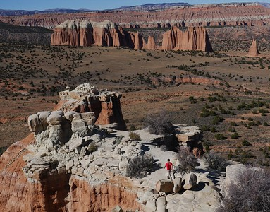 Cathedral Valley drive  - Upper Cathedral Valley overlook.