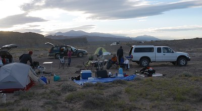 Old Notom Road campsite - Just a place to pull off the road. Lots of room for tables, stoves, ice chests, etc.