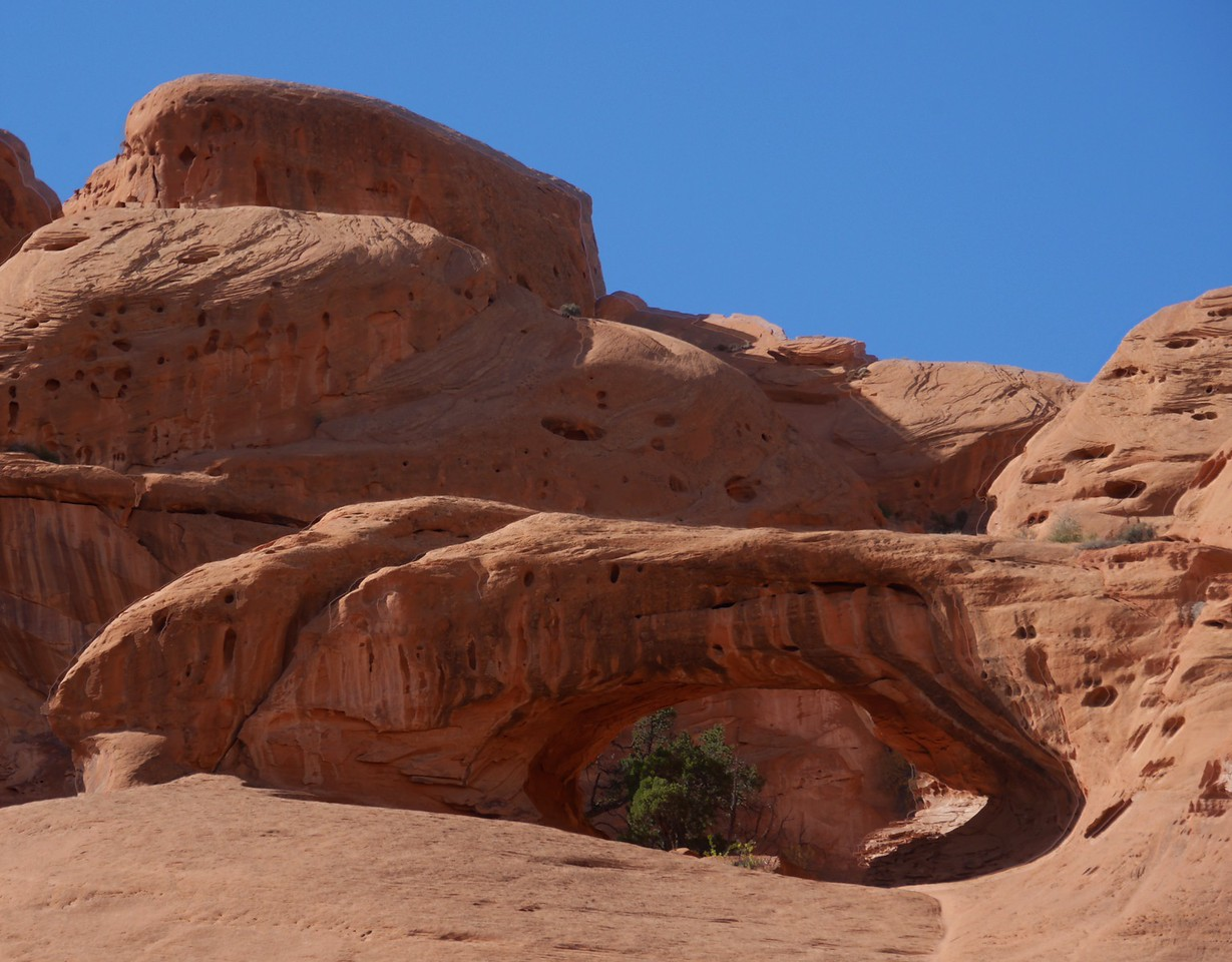 Upper Muley Twist hike - There are many arches hidden in the hills and ridges to the West that can be spotted.