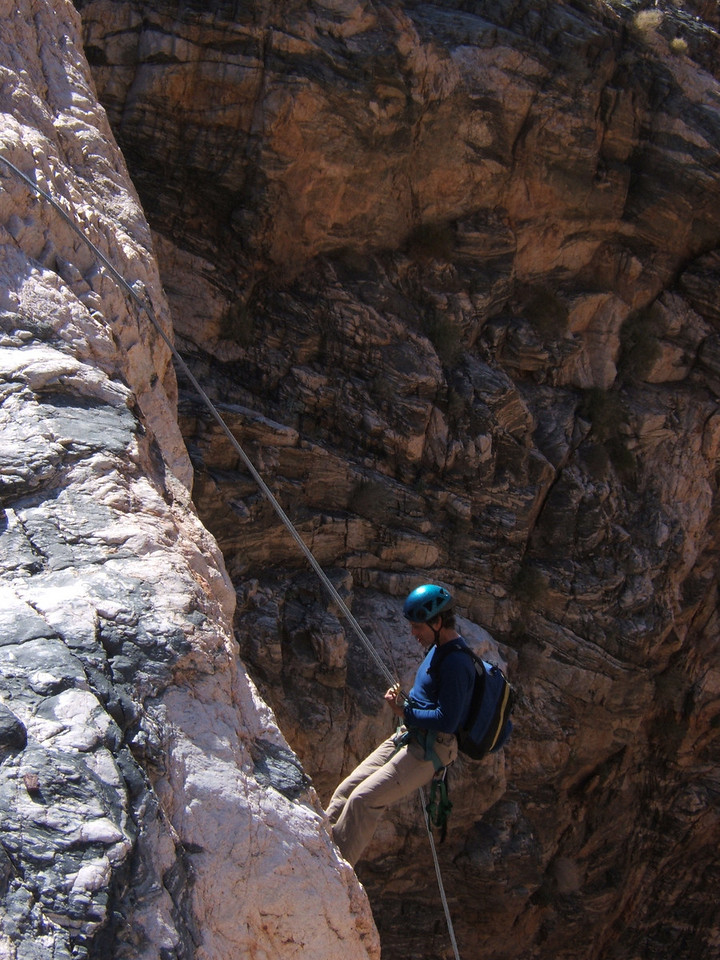 Craig T rappelling in Bad C