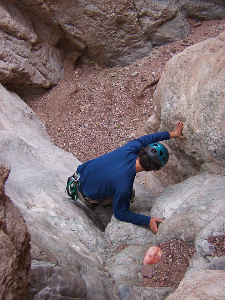 Craig T downclimbing