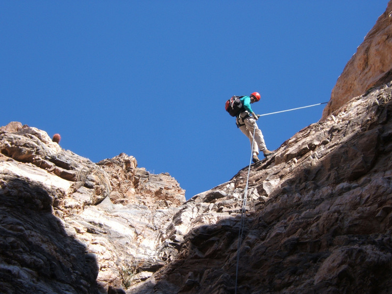 Jeff Fisher  rappelling in Bad